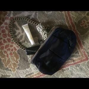 Jcrew black satin handbag